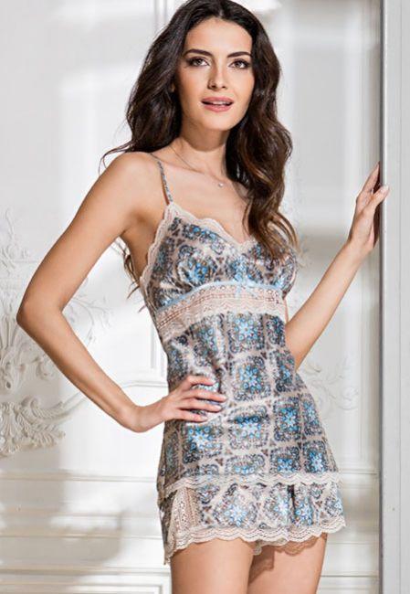 Пижама атласная для сна Mia-Mia PALERMO 9692