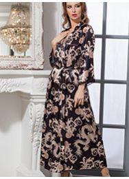 Длинный атласный халат Mia-Mia VERSACHI GOLD 9938