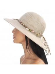 Шляпа пляжная с морскими украшениями Del Mare D 180-10