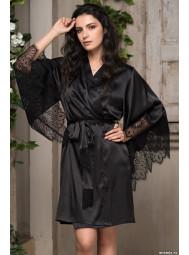 Короткий атласный халат с запахом Mia-Mia AFRODITA 2163