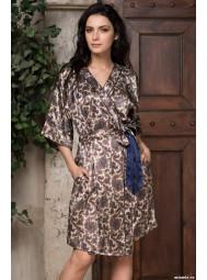 Короткий шёлковый халат с запахом Mia-Mia PERSIA 3403