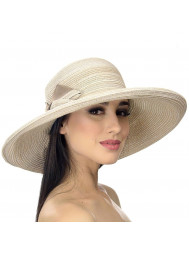 Шляпа пляжная с бантиком Del Mare D 008-10