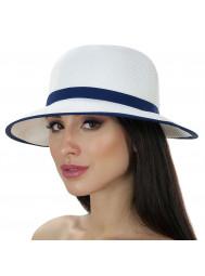 Шляпа пляжная с синей лентой Del Mare D 144-02.05