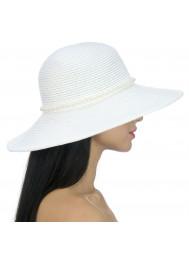 Шляпа пляжная с жемчугом Del Mare D 149-02