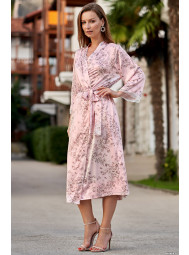 Длинный шёлковый халат с запахом Mia-Mia ROSEMARY 8699
