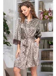 Короткий атласный халат с запахом Mia-Mia AJUR 8773