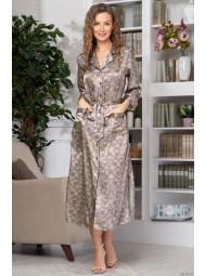 Длинный атласный халат с запахом Mia-Mia AJUR 8779