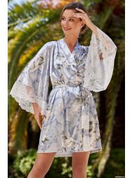 Короткий шёлковый халат с запахом Mia-Mia NOVELLA 3603